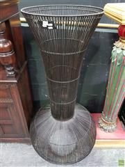 Sale 8570 - Lot 1006 - Large Modern Wicker Vase