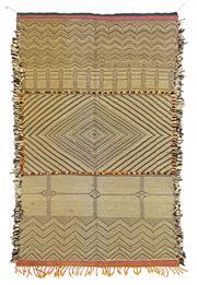 Sale 8725C - Lot 93 - A Moroccan Zanafi Kilim Carpet, Hand-knotted Wool, 165x100cm, RRP $1,800