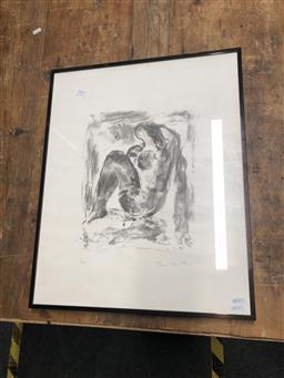 Sale 9152 - Lot 2063 - Toni Stadler Seated Nude lithograph ed.3/95, 34 x 26cm (58 x 46cm), signed -