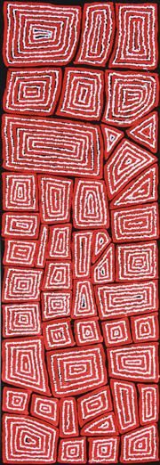 Sale 8382 - Lot 511 - Thomas Tjapaltjarri (c1964 - ) - Tingari 143 x 48cm
