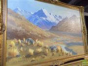 Sale 8461A - Lot 2032 - Ken J. Andrews (XX) - Mount Cook, New Zealand 60 x 90cm