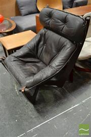 Sale 8511 - Lot 1045 - Italian Suspension Leather Armchair