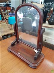 Sale 8598 - Lot 1035 - Victorian Mahogany Toilet Mirror, with arched top & shaped supports