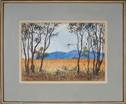 Sale 8903 - Lot 2046 - John Flexmore (1911 - 2003) - Hills and Saplings, 1918 26.5 x 38.5 cm