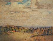 Sale 8892 - Lot 556 - B.E Minns (1864-1937) - Environs of Sydney from Pymble, 1923 48 x 62 cm