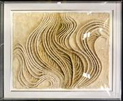 Sale 8953 - Lot 2064 - Abstract Textile by Unknown Artist (gallery perspex frame) -