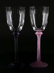 Sale 9003G - Lot 683 - Kosta Boda Set of 2 Glasses by Ulrica Vallien (height 22cm)