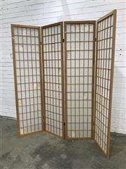Sale 9059 - Lot 1053 - Modern Four Panel Wall Screen (Each Panel - H:180 x W:45cm)