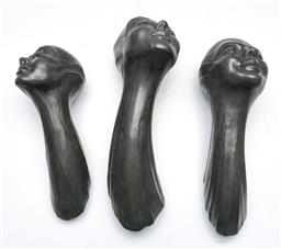 Sale 9138 - Lot 15 - Set of Three Graduating Steve Eichenberger Wall Mount Sculptures (L:29cm, 27cm and 24cm)