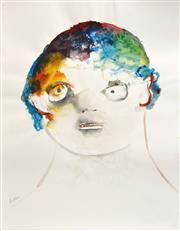 Sale 8301A - Lot 13 - Anne Hall (1945 - ) - Portrait, 1966 64 x 50cm
