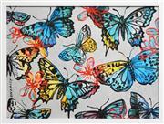 Sale 8411A - Lot 5025 - David Bromley (1960 - ) - Butterflies 77 x 104cm (frame size: 84 x 111cm)