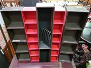 Sale 8589 - Lot 1084 - Five Leather Bound CD Racks