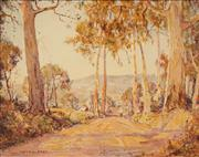 Sale 8613 - Lot 2068 - Andrew Park (active 1940s - 1960s) - Country Road 39.5 x 50cm
