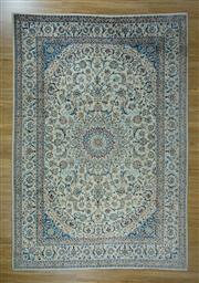 Sale 8657C - Lot 20 - Persian Nain Silk Inlaid 363cm x 250cm