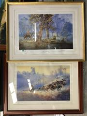 Sale 8776 - Lot 2071 - 2 Darcy Doyle Prints: Turning them Home, 348/2000; & Clancy of the Overflow -