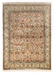 Sale 8790C - Lot 89 - A Very Fine Kashmiri Silk Pile, 213 x 158 cm