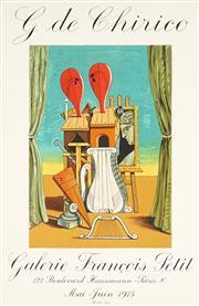 Sale 8794A - Lot 5098 - After Giorgio de Chirico (1888 -1978) - G de Chirico (Galerie Francois Petit) 73 x 47.5cm