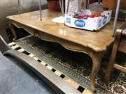 Sale 8868 - Lot 1593 - Parquetry Top Timber Coffee Table on Cabriole Legs