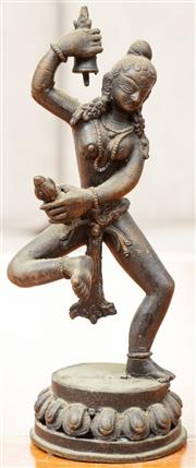 Sale 8976H - Lot 62 - A cast bronze figure probably of Tara dancing. Height 20cm