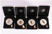 Sale 9035M - Lot 806 - The Australian Kookaburra Silver coin series $1 coins (4) by the Perth Mint; 2 x 2005, 1 x 2006, 1x2007