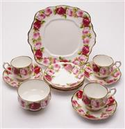 Sale 9049 - Lot 26 - Royal Albert Rose themed tea service