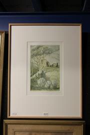 Sale 8349A - Lot 136 - Mary Rodd (XX) - Clifford Castle 26.5 x 16cm