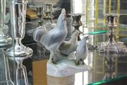 Sale 8346 - Lot 11 - Zsolnay Pecs Chicken Figure Group
