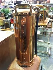 Sale 8643 - Lot 1087 - Vintage Copper Fire Extinguisher