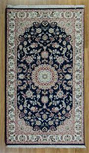 Sale 8665C - Lot 19 - Indo Nain Silk Inlaid 165cm x 94cm