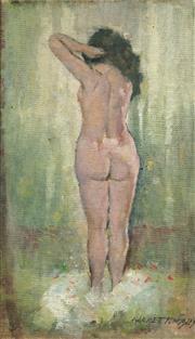 Sale 8738 - Lot 504 - Garrett Kingsley (1915 -1982) - Standing Nude 24.5 x 14cm
