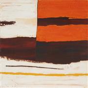 Sale 8773 - Lot 510 - Kate Briscoe (1944 - ) - Limestone Rockface - Split 1, 2008 76.5 x 76cm