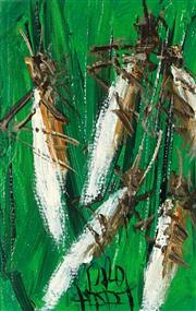 Sale 8930A - Lot 5023 - Kevin Charles (Pro) Hart (1928 - 2006) - Locusts 11 x 6.5 cm (frame: 32 x 28 x 2 cm)
