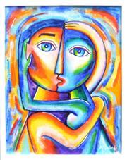 Sale 8309A - Lot 26 - Nigel Gillings (XX) - Two Lovers as One 35 x 28cm