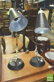 Sale 8371 - Lot 1027 - Pair of Retro Lamps (not working)