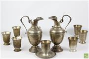 Sale 8516 - Lot 36 - Group Of Egyptian 900 Silver wares