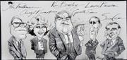 Sale 8883A - Lot 5039 - Bill Leak (1956 - 2017) - Faulkner, Kernot, Beazley, Evans, Brereton & Crean 21 x 39 cm