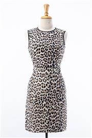 Sale 8891F - Lot 54 - A Kate Spade, New York leopard print cotton/silk blend sleeveless sheath dress, size 10
