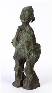 Sale 8994H - Lot 56 - Artist unknown - abstract bronze female form figure height