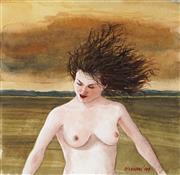 Sale 9001 - Lot 593 - Graeme Drendel (1953 - ) - Nude, 1999 16.5 x 17 cm (frame: 45 x 45 x 2 cm)