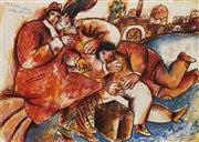 Sale 8732 - Lot 509 - Theo Tobiasse (1927 - ) - Sur Les Pierres Infinies 69 x 92cm (frame: 89.5 x 110.5cm)