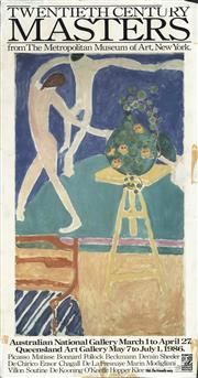 Sale 8766A - Lot 5022 - After Henry Matisse - Twentieth Century Masters From The Metropolitan Museum of Art double-sided colour process lithograph