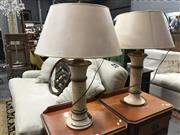 Sale 8822 - Lot 1260 - Pair of Timber Table Lamps