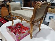 Sale 8826 - Lot 1045 - French Style Gilt Bed End Stool