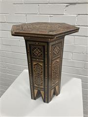Sale 9063 - Lot 1076 - Inlaid Occasional Table (h:39 x w:39 x d:26 x d:26cm)