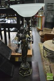 Sale 8361 - Lot 1034 - Lady Figural Base Floor Lamp