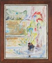 Sale 8901A - Lot 5096 - Artist Unknown - Still Life and Country View 57.5 x 47 cm