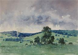 Sale 9125 - Lot 560 - Herman Pekel (1956 - ) - Farmland Landscape 53.5 x 75.5 cm (frame: 76 x 97 x 2 cm)