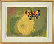 Sale 8415 - Lot 599 - Charles Blackman (1928 - ) - The Web, 1970 50.5 x 69.5cm (frame size: 74.5 x 93cm)