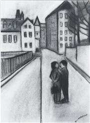 Sale 8451E - Lot 5016 - Robert Dickerson (1924 - 2015) - Rue Nonnian Hueres 37 x 27cm (frame size: 71 x 59cm)