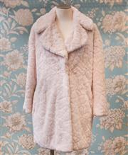 Sale 8474A - Lot 45 - A Forever New 60s style, pink faux fur coat, outer condition is excellent (lining has a couple of stains), size 10